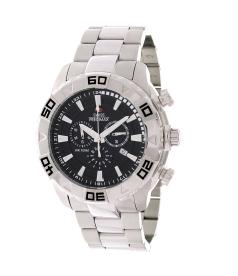 Swiss Precimax Men's Valor Elite SP12051 Black Stainless-Steel Swiss Chronograph Watch