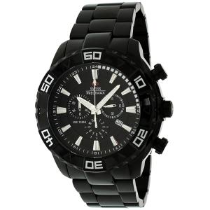 Swiss Precimax Men's Valor Elite SP12053 Black Stainless-Steel Swiss Chronograph Watch