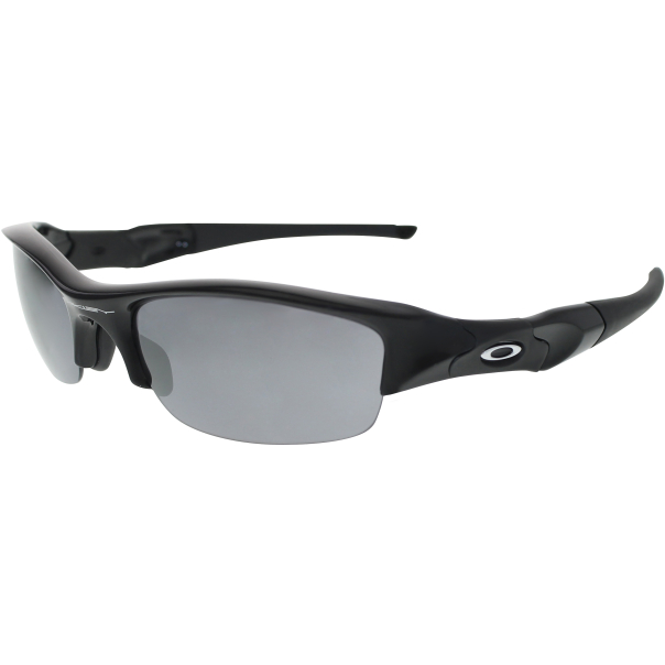 oakley men 39 s gradient flak jacket 03 881 black wrap sunglasses. Black Bedroom Furniture Sets. Home Design Ideas