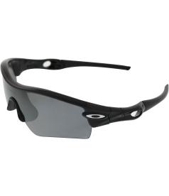 Oakley Men's Polarized Radar Path 09-674 Black Shield Sunglasses