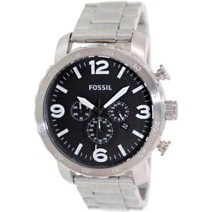 Fossil Men's Nate JR1353 Silver Stainless-Steel Analog Quartz Watch