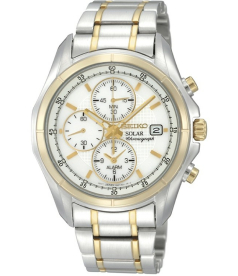 Seiko Men's SSC002 White Two-tone Stainless-Steel Quartz Watch