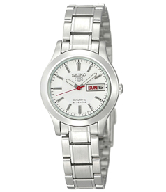 Seiko Women's 5 Automatic SYMD87K Silver Stainless-Steel Automatic Watch