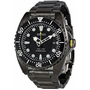 Seiko Men's Kinetic SKA427 Black Stainless-Steel Quartz Watch