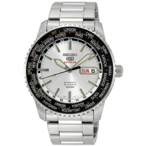 Seiko Men's 5 Automatic SRP123K Silver Stainless-Steel Automatic Watch