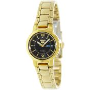 Seiko Women's 5 Automatic SYME78K Black Gold Tone Quartz Watch