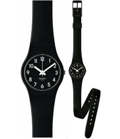 Swatch Women's Originals LB170 Black Rubber Quartz Watch