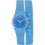 Swatch Women's Originals LS112 Blue Rubber Quartz Watch
