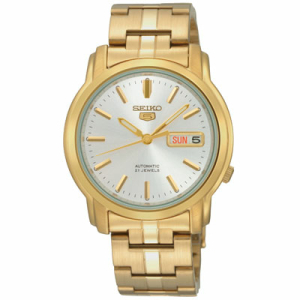 Seiko Men's 5 Automatic SNKK74K Silver Gold Tone Stainles-Steel Automatic Watch