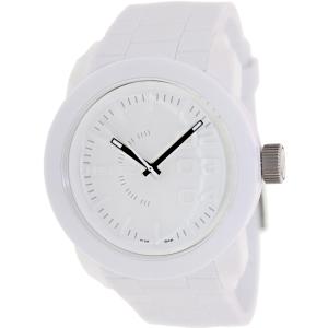 Diesel Men's Double Down DZ1436 White Silicone Quartz Watch