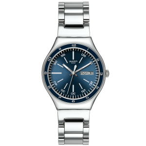 Swatch Men's Irony YGS751G Blue Stainless-Steel Quartz Watch