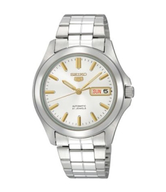 Seiko Men's 5 Automatic SNKK89K White Stainless-Steel Automatic Watch