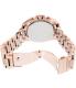 Michael Kors Women's Bradshaw MK5503 Rose-Gold Stainless-Steel Quartz Watch - Back Image Swatch