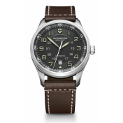 Victorinox Swiss Army Men's AirBoss Mechanical 241507 Black Calf Skin Swiss Automatic Watch