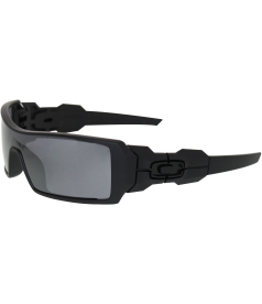 Oakley Men's Gradient New Oil Rig 03-464 Black Shield Sunglasses