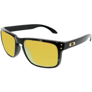 Oakley Men's Mirrored Holbrook OO9102-08 Black Square Sunglasses