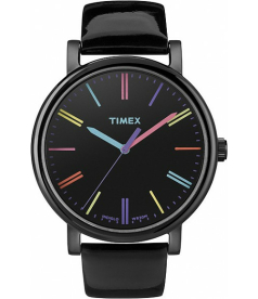 Timex Women's Easy Reader T2N790 Black Leather Quartz Watch