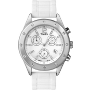 Timex Women's Sport T2N830 White Nylon Quartz Watch