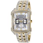 Bulova Men's Crystal 98C109 Silver Stainless-Steel Quartz Watch