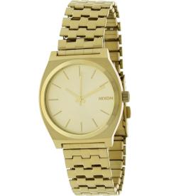 Nixon Men's Time Teller A045511 Gold Gold Tone Stainles-Steel Quartz Watch