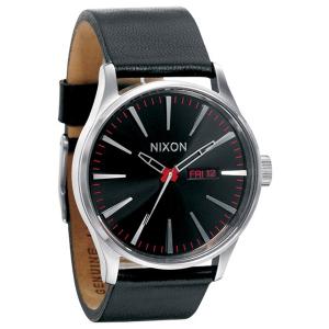 Nixon Men's Sentry A105000 Black Leather Analog Quartz Watch