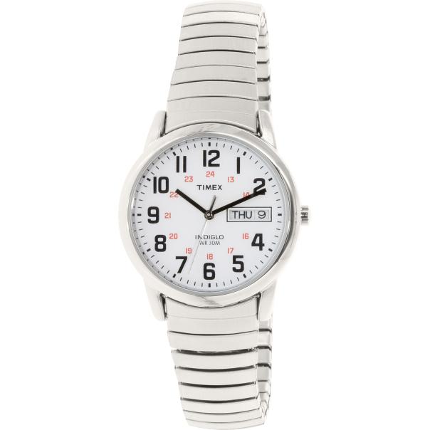 Timex Men's Easy Reader T2N091 Silver Stainless-Steel Quartz Watch