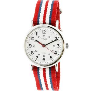 Timex Men's Weekender T2N746 White Nylon Quartz Watch