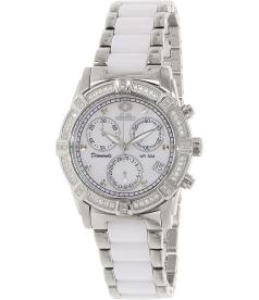 Swiss Precimax Women's Desire Elite Ceramic Diamond SP12075 Mother-Of-Pearl Ceramic Swiss Quartz Watch
