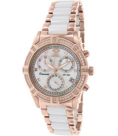Swiss Precimax Women's Desire Elite Ceramic Diamond SP12078 Mother-Of-Pearl Ceramic Swiss Quartz Watch