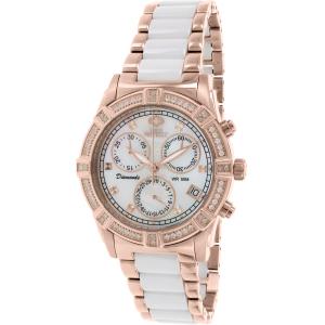 Swiss Precimax Women's Desire Elite Ceramic Diamond SP12078 Rose Gold Ceramic Swiss Quartz Watch