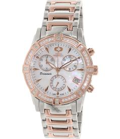 Swiss Precimax Women's Desire Elite Diamond SP12081 Mother-Of-Pearl Stainless-Steel Swiss Quartz Watch