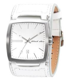Black Dice Men's Flow BD-002-03 White Leather Quartz Watch