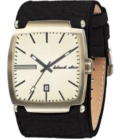 Black Dice Men's Flow BD-002-11 Gold Leather Quartz Watch