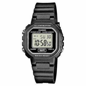 Casio Women's Core LA20WH-1A Black Resin Quartz Watch