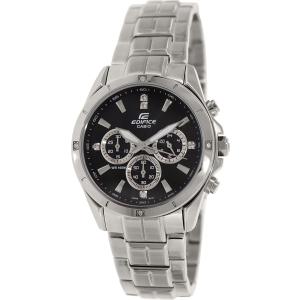Casio Men's Edifice EF544D-1AV Silver Stainless-Steel Quartz Watch