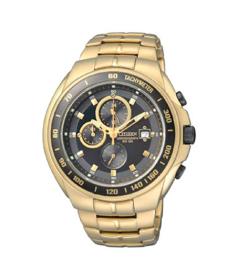 Citizen Men's Chronograph AN4012-51E Black Gold Tone Stainles-Steel Analog Quartz Watch
