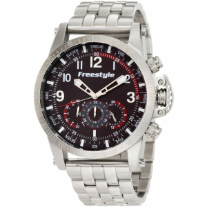 Freestyle Men's Aviator 101209 Black Stainless-Steel Quartz Watch