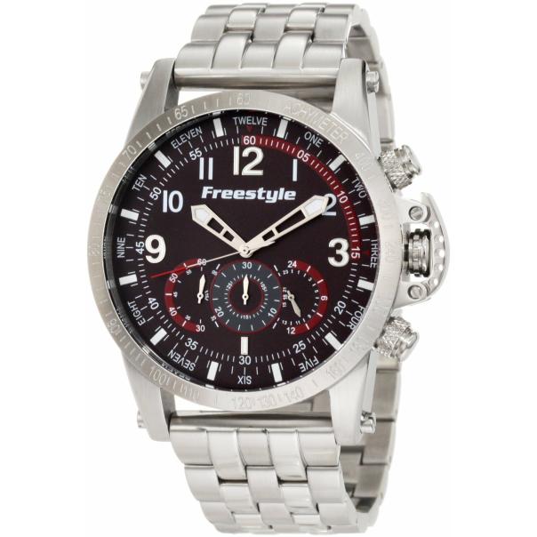 Freestyle Men's Aviator 101209 Black Stainless-Steel Quartz Watch
