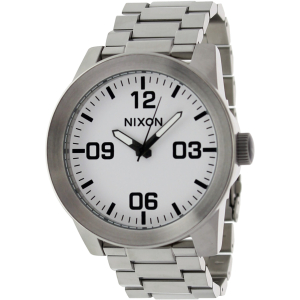 Nixon Men's Corporal SS A346100 White Stainless-Steel Quartz Watch