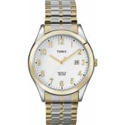 Timex Men's Elevated Classics T2N851 White Leather Quartz Watch