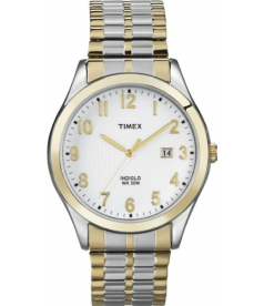 Timex Men's Elevated Classics T2N851 White Leather Quartz Watch