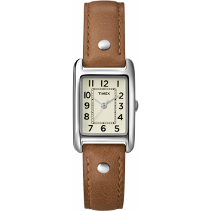 Timex Women's Weekender T2N905 White Calf Skin Quartz Watch