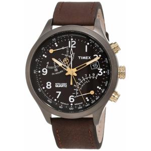 Timex Men's IQ T2N931 Brown Calf Skin Quartz Watch