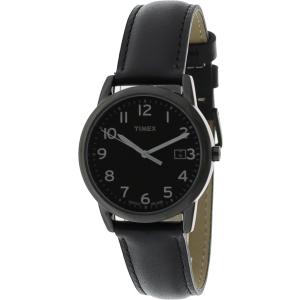 Timex Women's Elevated Classics T2N947 Black Leather Quartz Watch