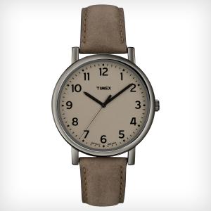 Timex Men's Easy Reader T2N957 Beige Leather Quartz Watch