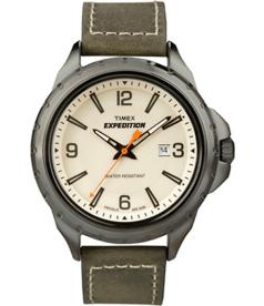Timex Men's Expedition T49909 White Leather Quartz Watch