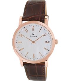 Bulova Men's 97A106 White Calf Skin Quartz Watch