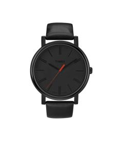 Timex Men's Easy Reader T2N794 Black Leather Quartz Watch
