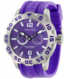 Nautica Men's Sport N16609G Purple Resin Quartz Watch