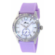 Lotus Women's Cool L15737/3 Mother-Of-Pearl Rubber Quartz Watch
